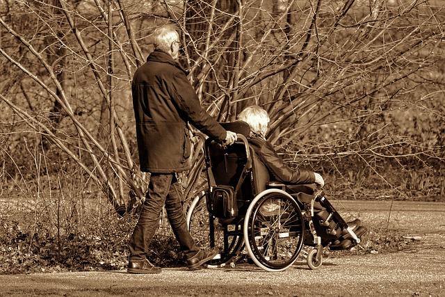 procházka s invalidou